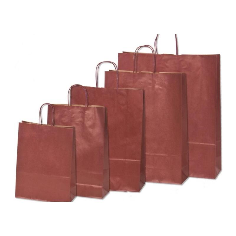 Χάρτινη τσάντα μπορντώ