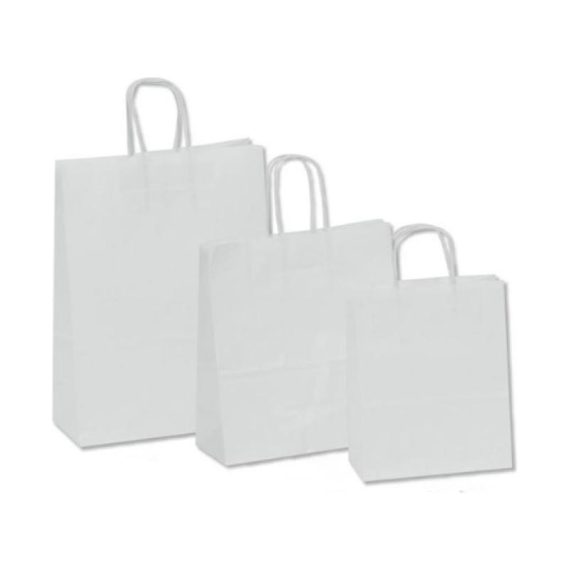 Χάρτινη τσάντα λευκή