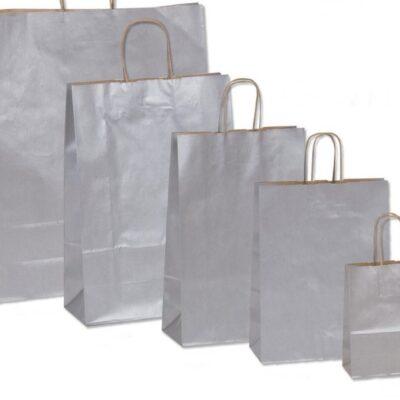 Χάρτινη τσάντα ασημί