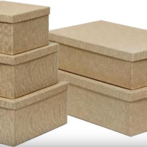 Κουτιά χάρτινα - μεταλλικά