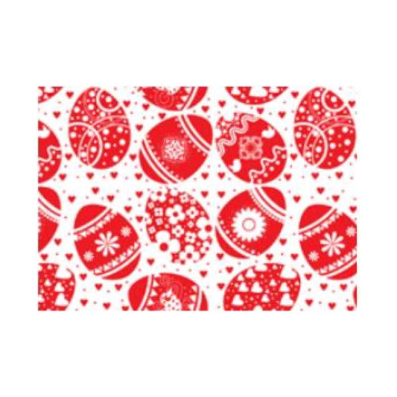 Κόλλα χαρτί περιτυλίγματος με κόκκινα αυγά