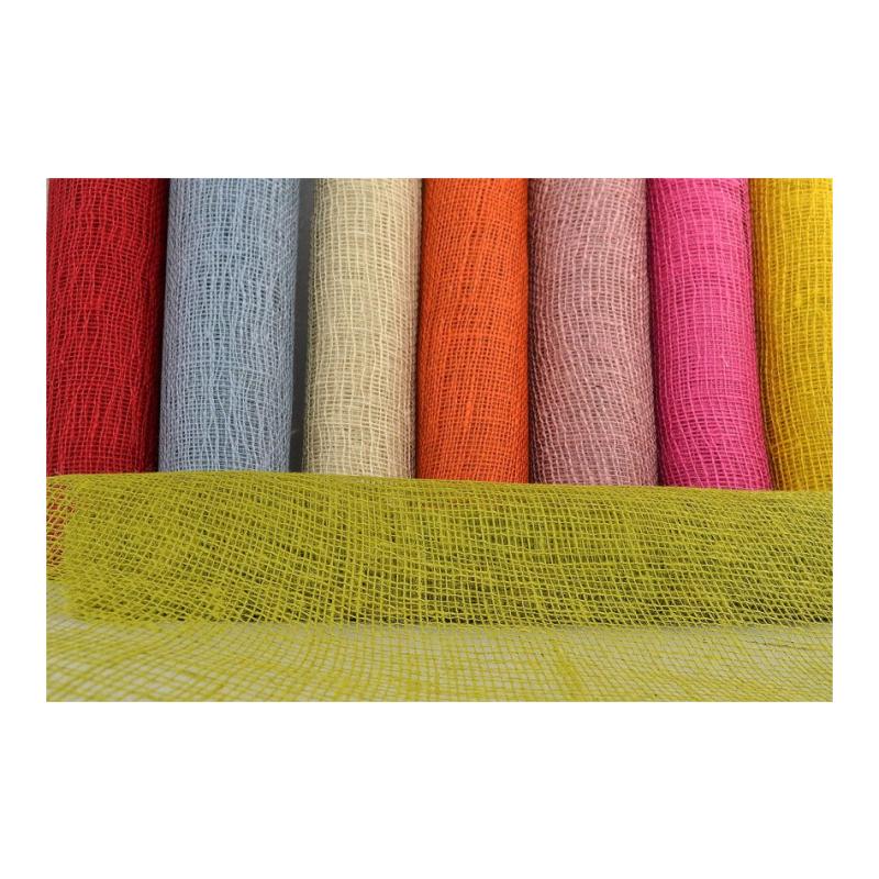 ύφασμα τσουβάλι χρωματιστό