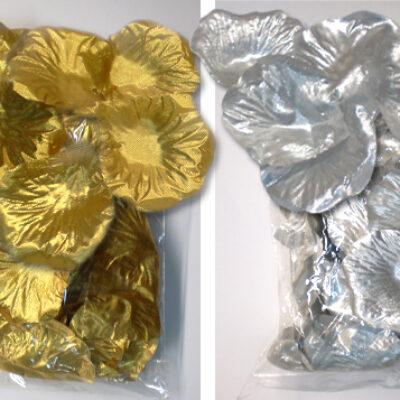 ροδοπέταλα χρυσά ασημί