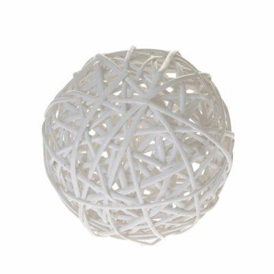 Μπάλα λευκή ψάθινη 20cm