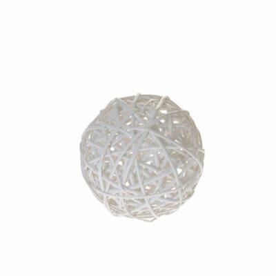 Μπάλα λευκή ψάθινη 15cm