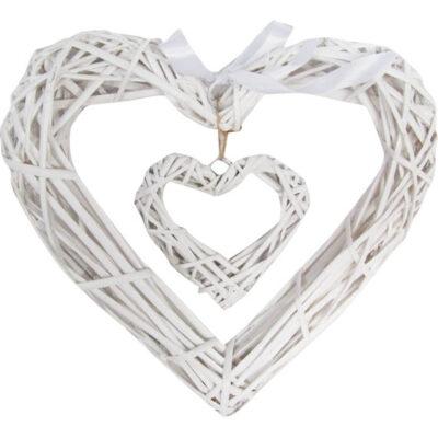 καρδιά μπαμπού λευκή