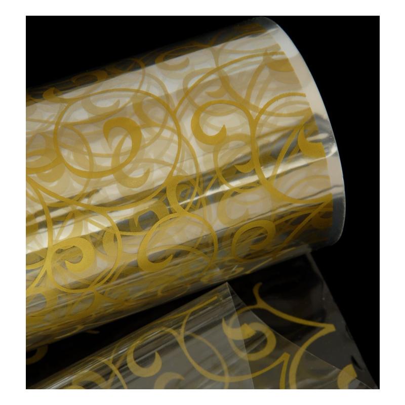 σελοφάν με χρυσό λαχούρι